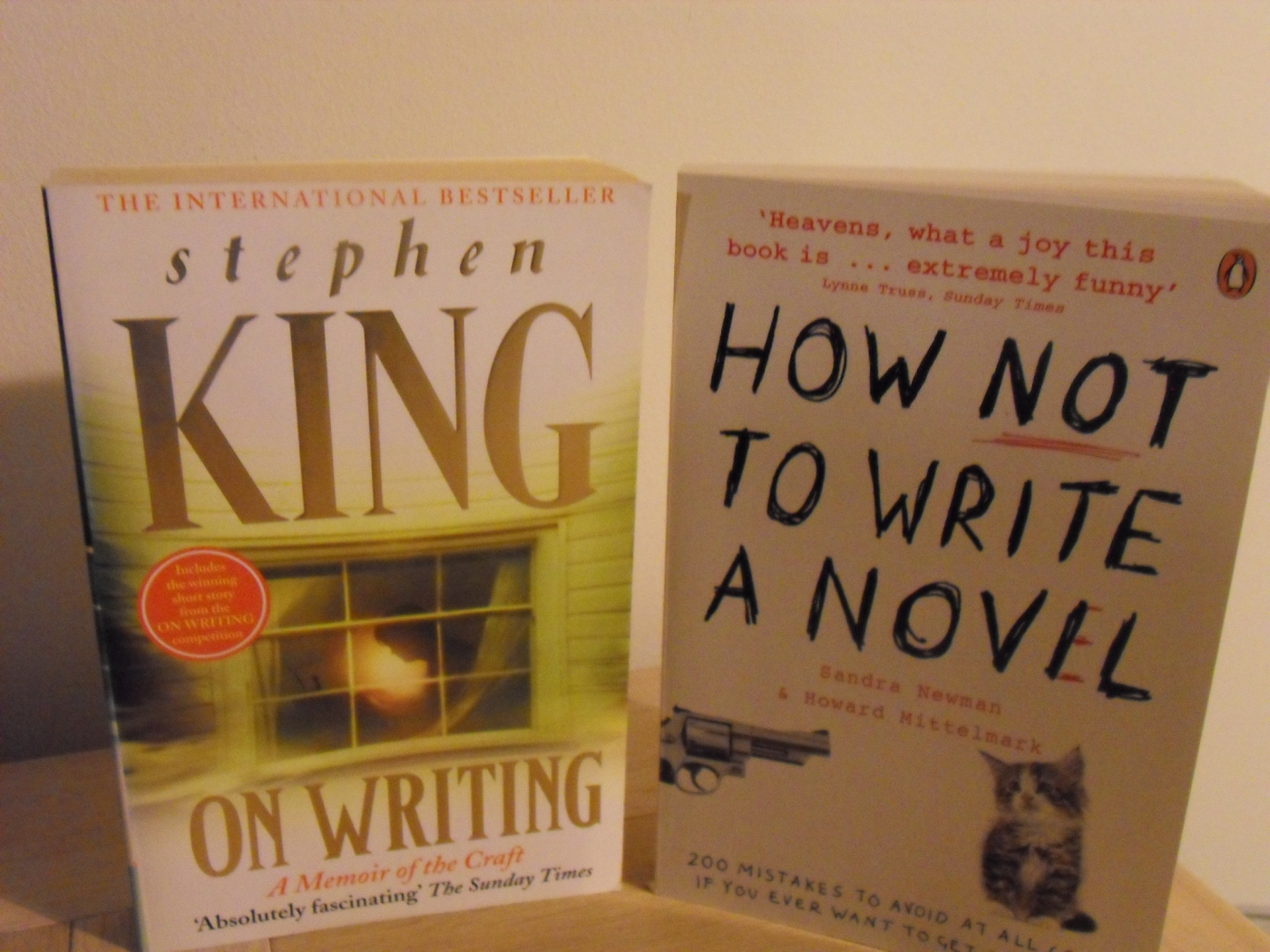 'On writing' by Stephen King and 'How not to write a novel' by Newman and Mittelmark