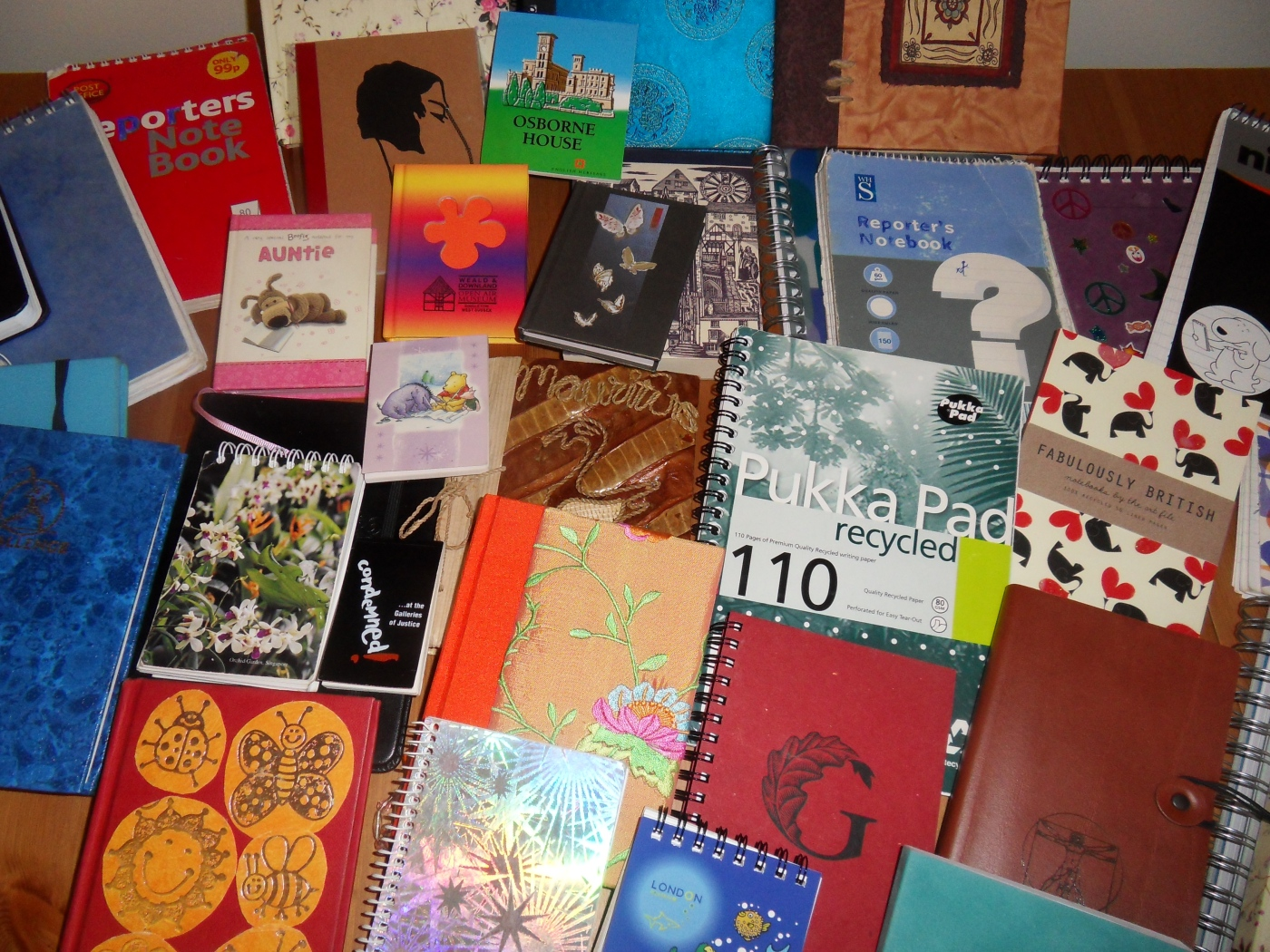 Image of collected notebooks
