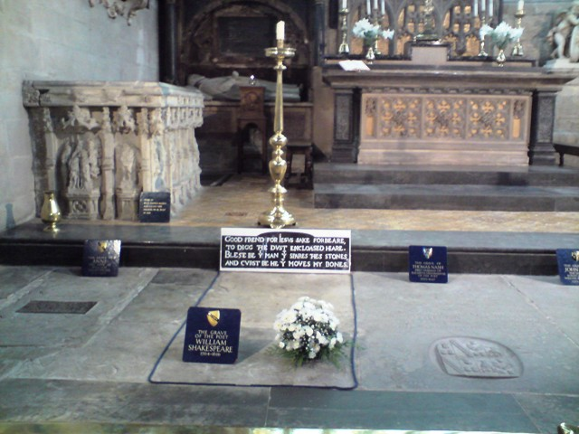 Image of William Shakespeare's grave