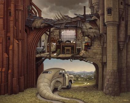 The Stone and Brick - Jacek Yerka