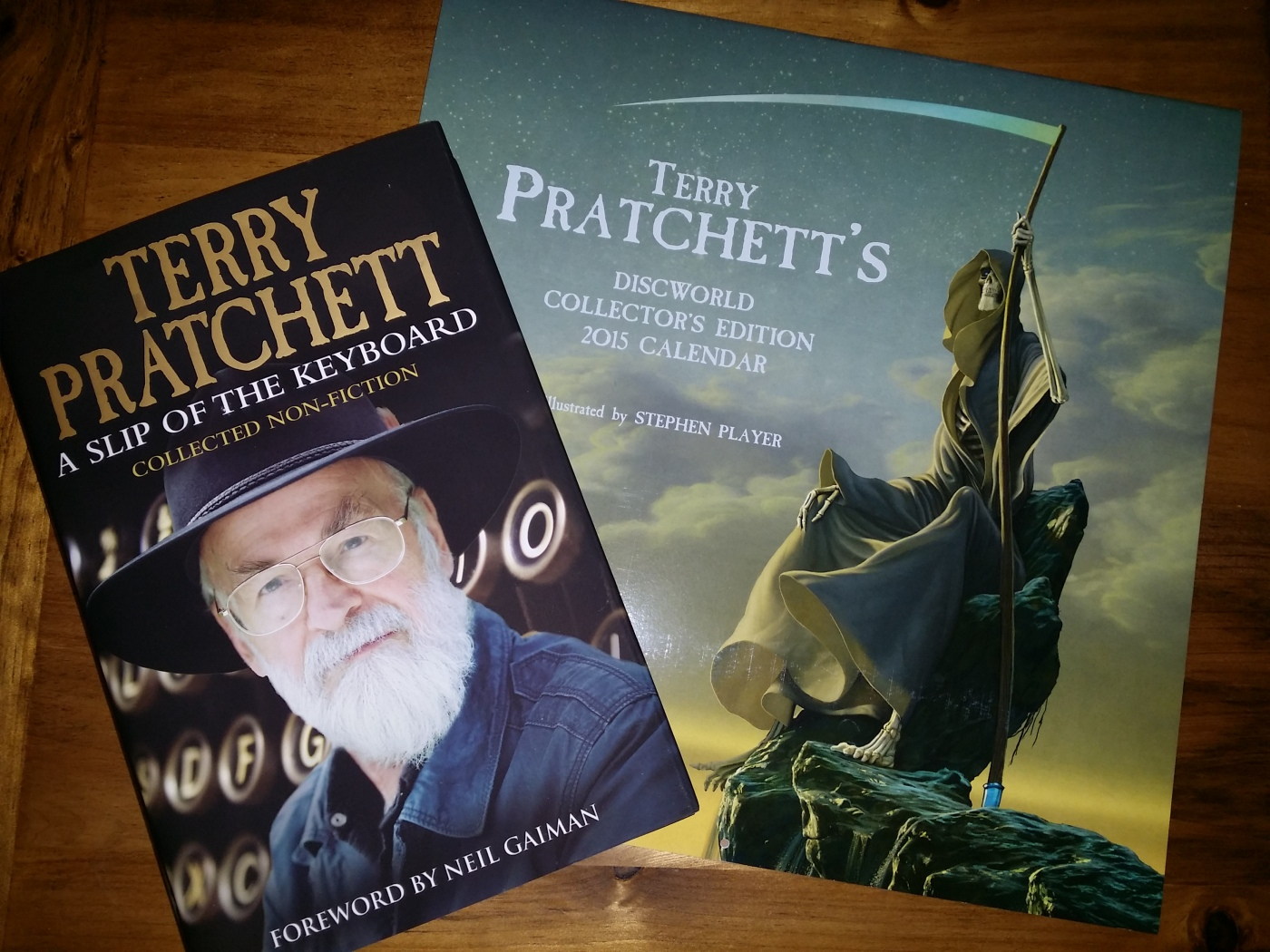 Terry Pratchett book and calender