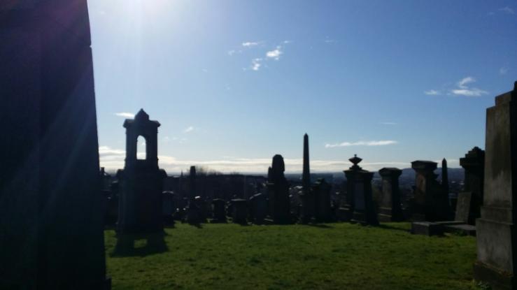 More graves in Glasgow Necropolis