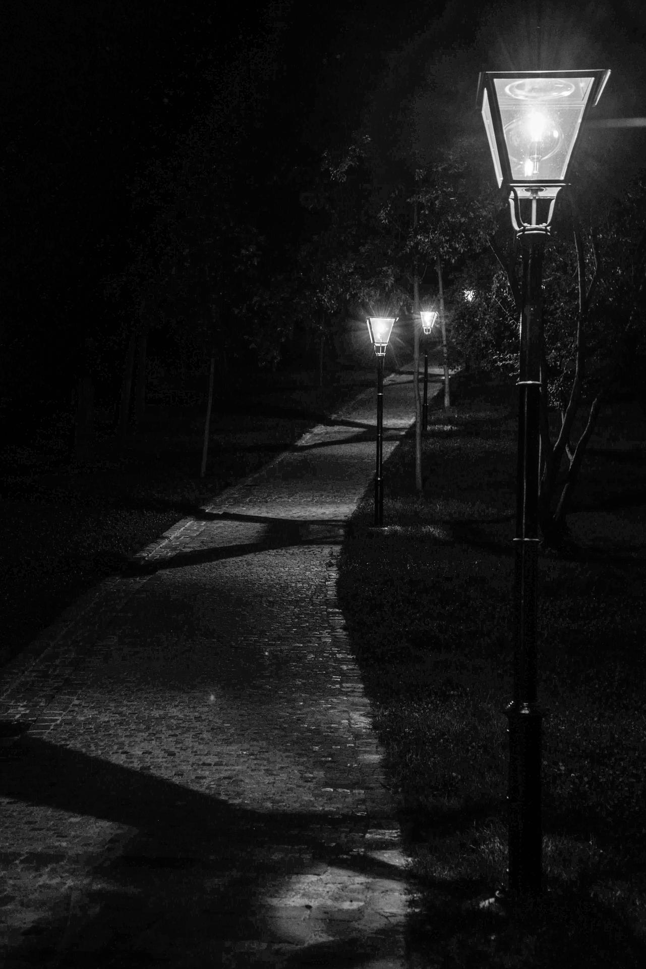 Image of a dark path