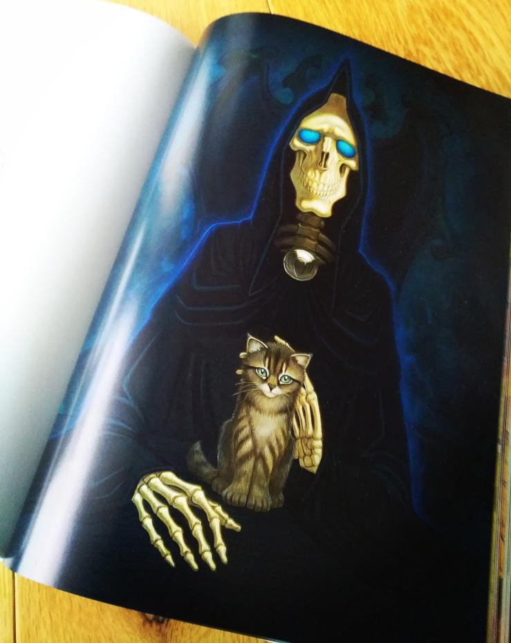 Death with kitten, 2013, Paul Kidby