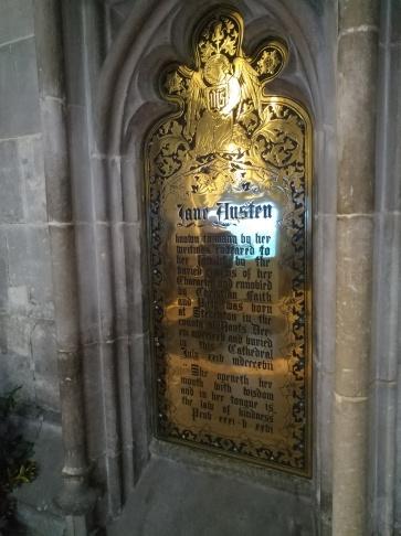 Brass plaque near Austen's grave