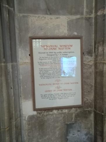 Description on plaque