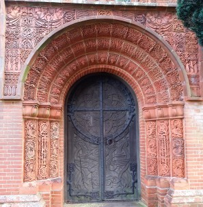 Door to Watts Memorial Chapel