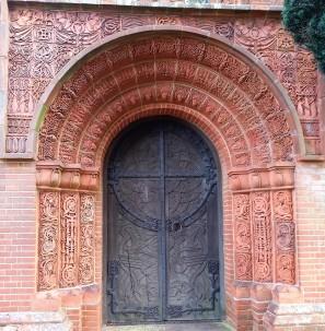 Door to Watts Memorial Chapel