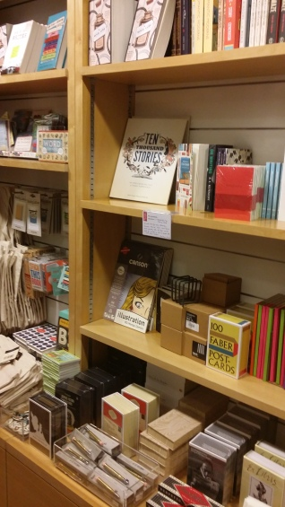 Gift shop shelves